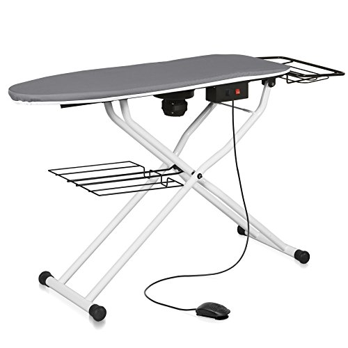 (Reliable The Board 550VB Professional Vacuum Table, 110V, Heated Surface, Laundry Rack, Ironing Station Support, Quick Fold Up, Tube Frame Construction, 16 Inch x 48.5 Inch Pressing Dimensions)