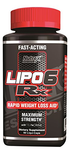 Nutrex Research Lipo-6 RX Supplement, 60 Count
