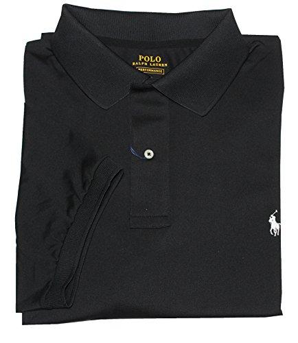 Polo Ralph Lauren Mens Big & Tall Performance Mesh Polo, Polo Black, 3LT