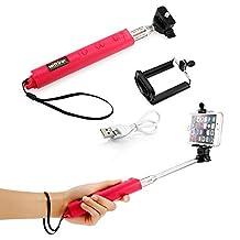 Gearonic 4 Button Selfie Stick Bluetooth Remote - Pink