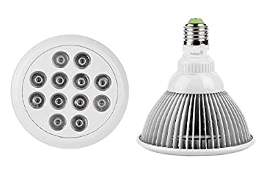 """Ivation """"BEST & MOST EFFECTIVE"""" 15 Watt LED Plant Grow Light Bulb For Hydroponic Greenhouse Plants, Flowers, Vegetables, Garden Lighting - Designed for Low Energy Consumption & Fits Standard E27 Socket """"Makes Your Plant GROW & BEAUTIFUL"""""""