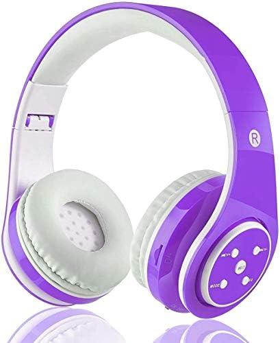 OXENDURE Wireless Kids Headphones, Kids Headphones Bluetooth Volue Limited, Kids Headsets Wireless, Over-Ear Kids Headphones Bluetooth and Wired for Girls,Boys,Teens (Purple)