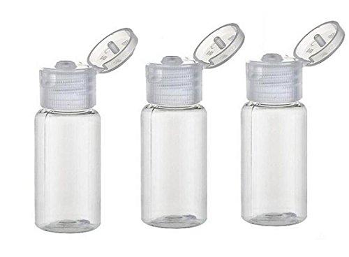 12PCS 30G 30ml 1oz Clear Empty Plastic Sample Flip Cap Bottle Pot Vial For Makeup Emollient Water Shower Gel Emulsion Liquid Comestic Container