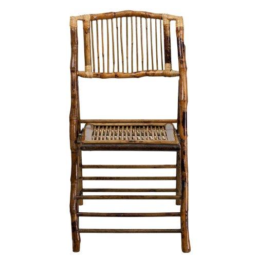 Flash Furniture American Champion Bamboo Folding Chair by Flash Furniture (Image #3)