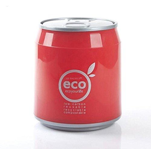JinZhiCheng Red Color Creative Plastic Desktop Trash Bin Mini Pen Container Trash