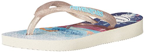 Havaianas Kids Slim Princess Sandal Flip Flops (Toddler/Little Kid), White, 23-24 BR/9 M US - Havaiana Sale