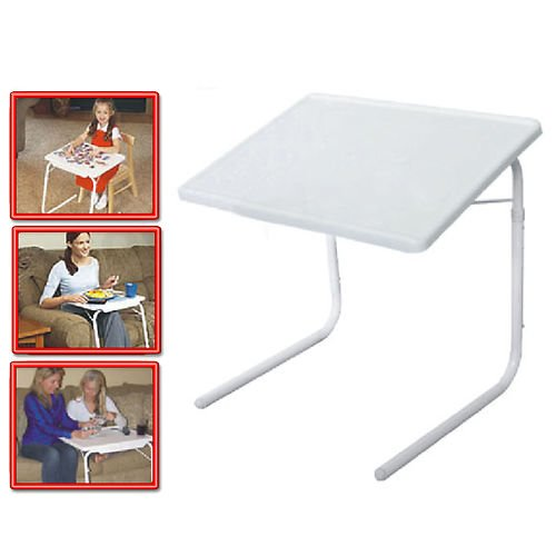 5 SET - NEW TABLE MATE 2 AS SEEN ON TV PORTABLE ADJUSTABLE TV DINNER TRAY TABLEMATE II - Tablemate Tray