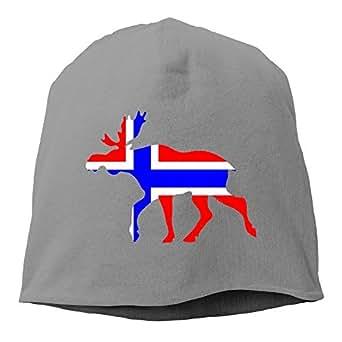 Amazon.com: Fun Qiaoya Daily Beanie Hat Norwegian Moose