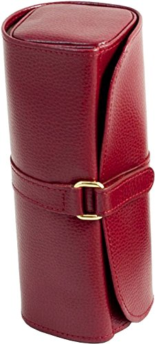 Travel Jewelry Roll, Red