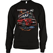 Shelby G.T.500 Cobra Men's Long Sleeve Thermal Officially Licensed Ford Motor Company Carroll Shelby Mustang Design Men's Thermal Shirt (Black)