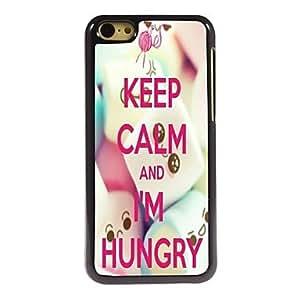 YULIN Mantener la calma y soy del caso del diseño de aluminio con hambre de 5c iphone , HK