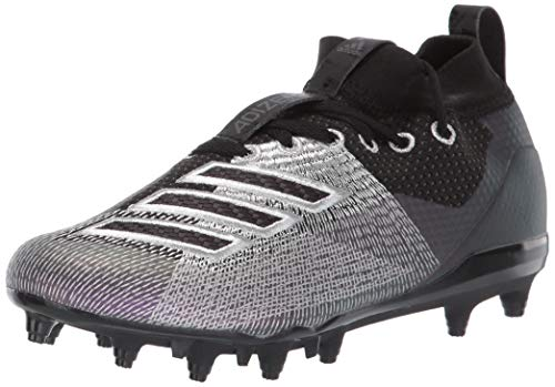 adidas Unisex Adizero 8.0 Football Shoe, Black/Night Metallic/Grey, 6 M US Big -