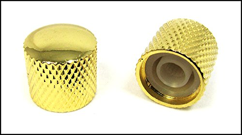 2-pack Potentiometer Knobs: Dome-Top Knurled Gold