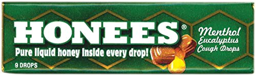 Ambrosoli Honees Menthol Eucalyptus Cough Drops, 9-Drop Bars (Pack of 24) Lozenges Menthol Eucalyptus