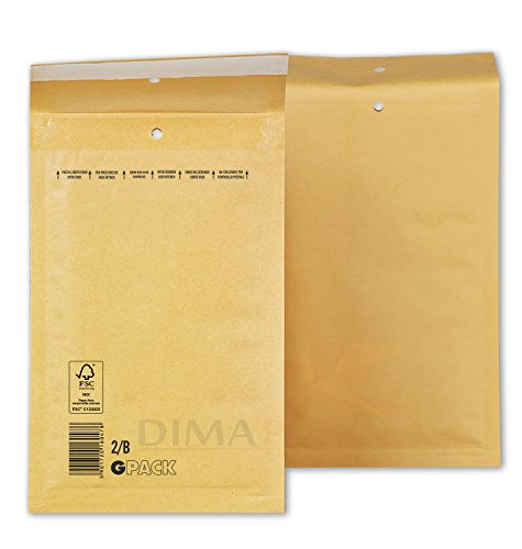 200 x Luftpolstertaschen Versandtaschen braun weiß alle Größen wählbar dimapax (200 x B2, braun)