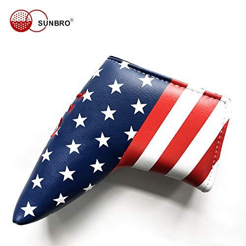 Sunbro Putter Covers Blade USA/UK Flag (USA Flag)]()