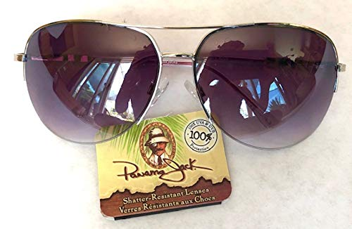 Panama Jack Womens Aviator Sunglasses w/Pink Arms (1697) 100% UVA & UVB Protection + FREE CLEANING CLOTH (Panama-shops)