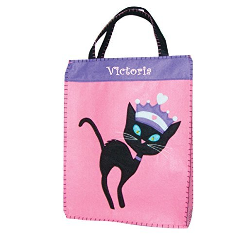 (DIBSIES Personalization Station Personalized Princess Black Cat Trick or Treat Bag -)