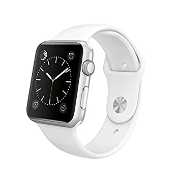 "Original Apple Watch 42mm (Fits 5.5"" - 8.2"" Wrists) - Silver Aluminum Case, White Sport Band Edition (Retail Packaging) 0"