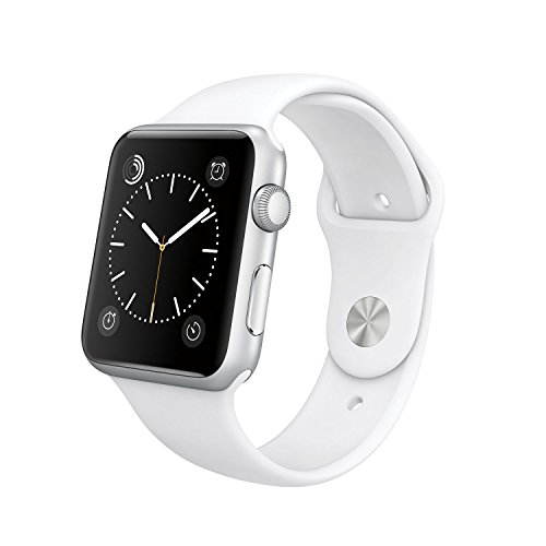 Original Apple Watch 42mm (fits 5.5'' - 8.2'' wrists) - Silver Aluminum Case, White Sport Band Edition (Retail Packaging) by Apple