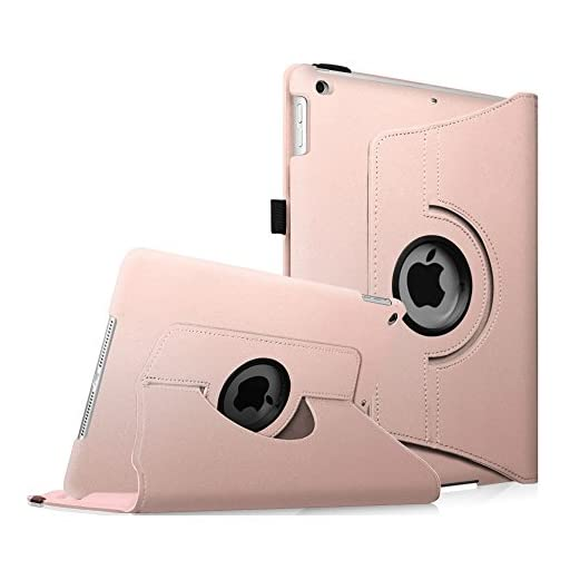 Fintie iPad Mini 1/2/3 Case - 360 Degree Rotating Stand Case Cover with Auto Sleep/Wake Feature for Apple iPad Mini 1 / iPad Mini 2 / iPad Mini 3, Rose Gold