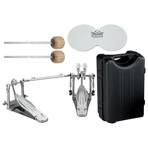TAMA HP910LWN Speed Cobra 910 Double Bass Drum Pedal w/ Case, Impact Patches, and Extra Wood Beaters