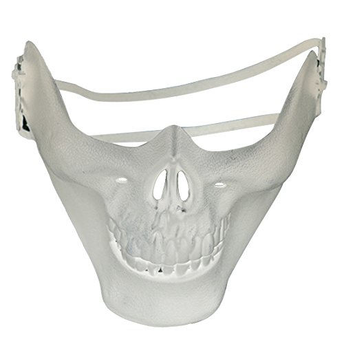 Skull Skeleton Airsoft Paintball Half Face Protect Mask for Halloween -