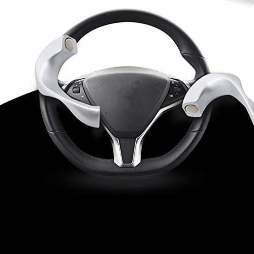 ACAMPTAR f/ür Tesla Model 3 Y Lenkrad Steuerung Booster Gegengewichtsring Automatisches Fsd Unterst/ütztes Fahren