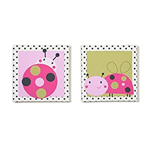 Lil Ladybug 2 Piece Canvas Wall Art by Belle