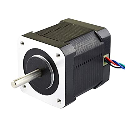 Nema 17 Stepper Motor Bipolar 2A 59Ncm(84oz.in) 48mm Body 4-lead W/ 1m Cable and Connector for 3D Printer/CNC