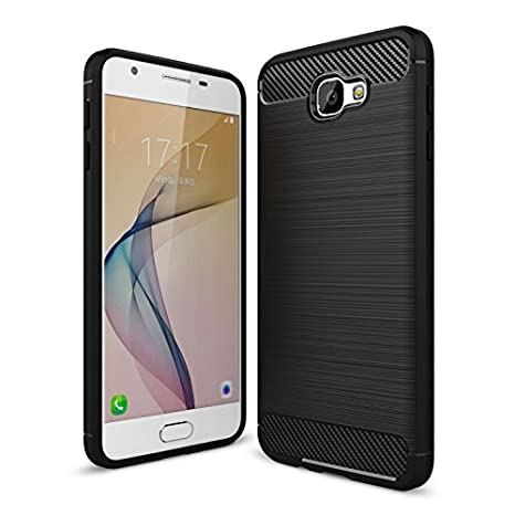 best service 4123b 02398 Bounceback ® Samsung Galaxy J7 Prime 2 Cover Case Shockproof Carbon Fiber  Design Soft Back Cover for Samsung Galaxy J7 Prime 2 -Metallic Black