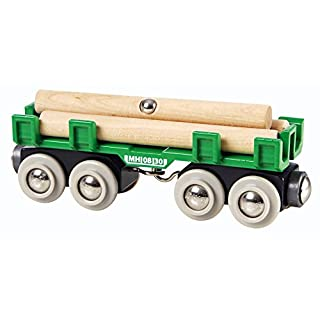 BRIO World - 33696 Lumber Loading Wagon | 4 Piece Train Toy for Kids Ages 3 and Up