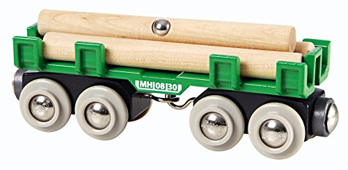 BRIO World - 33696 Lumber Loading Wagon | 4 Piece Train Toy for Kids Ages 3 and ()