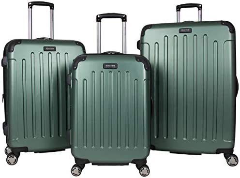 Kenneth Cole Reaction Renegade 3-Piece Lightweight Hardside Expandable 8-Wheel Spinner Travel Luggage Set 20 Carry-on, 24 , 28 Suitcases, Cilantro
