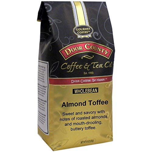 (Door County Coffee, Almond Toffee, Wholebean, 10oz Bag)