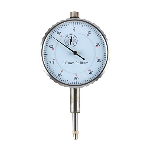 Measurement Instruments (Dial Gauge Indicator, 0.01mm Accuracy Measurement Instrument Dial Indicator Gauge, Measure Range 0-10mm)