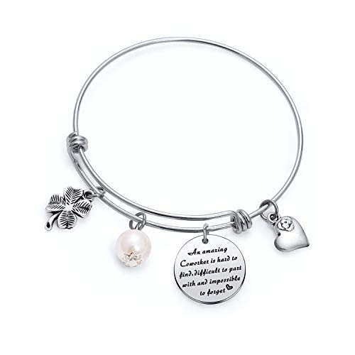 TzrNhm Blossom Coworker for Christmas Day Gift Friend Gifts Best Friend Keychain Best Friend Presents for Best Friend Bangle Birthday Present Business Partner Gifts Office Gifts for Coworker (Bangle)