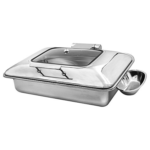 Cater Strong - 8 qt. Full Size Stainless Induction Chafer w/Window
