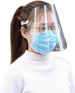 Visera Protectora Transparente a Prueba de Polvo Protector de Cara Completa para Limpieza de Cocina en Taller protecci/ón de la Visera TDORA antigoteo