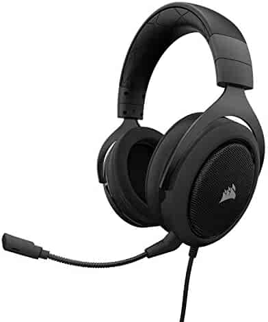 Corsair HS60 – 7.1 Virtual Surround Sound PC Gaming Headset w/USB DAC - Discord Certified Headphones – Compatible with Xbox One, PS4, and Nintendo Switch – Carbon