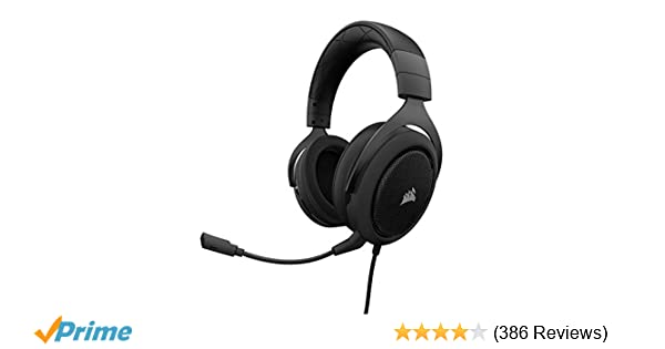 Corsair HS60 – 7 1 Virtual Surround Sound PC Gaming Headset w/USB DAC -  Discord Certified Headphones – Compatible with Xbox One, PS4, and Nintendo