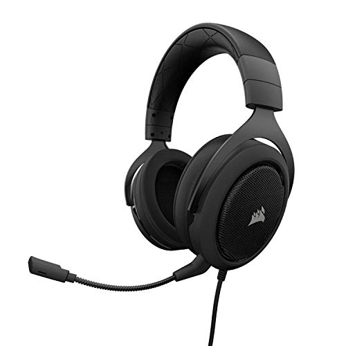 Corsair HS60 - 7.1 Virtual Surround Sound PC Gaming Headset w/USB DAC - Discord Certified Headphones - Compatible with Xbox One, PS4, and Nintendo Switch - Carbon ()