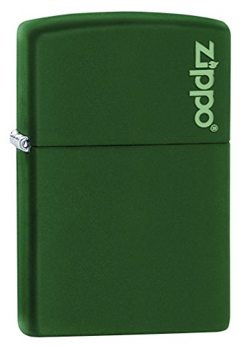 zippo-green-matte-logo-pocket-lighter