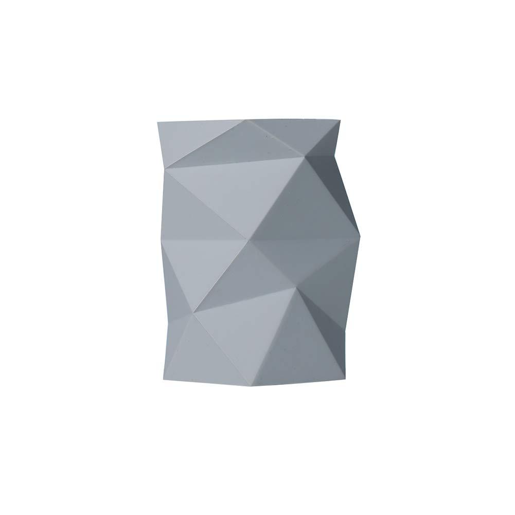 Fablcrew per ufficio 7.7 * 7.3 * 10.9CM bianco Portapenne in silicone motivo geometrico Fablcrew