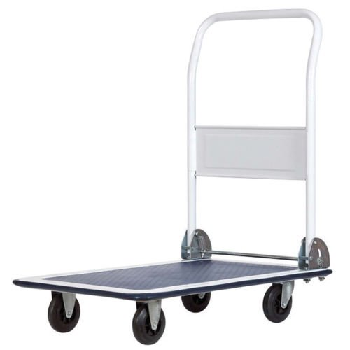 Apex 4-Wheel Platform Cart Trolley 300 lbs. Capacity 29 in. Lx18-5/8 in. W by Apex