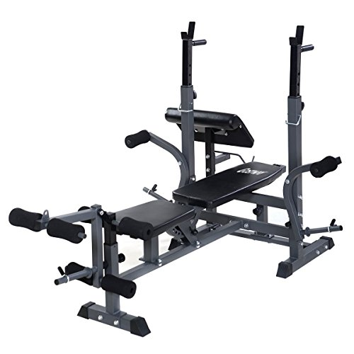 Goplus Adjustable Weight Lifting Flat Incline Bench
