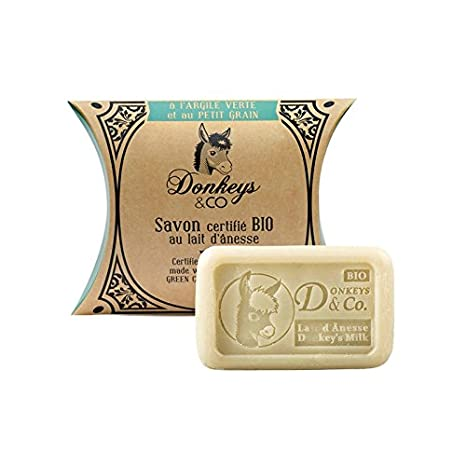Jabón Bio 100 g arcilla verde – pequeño grano (AU leche de ânesse)