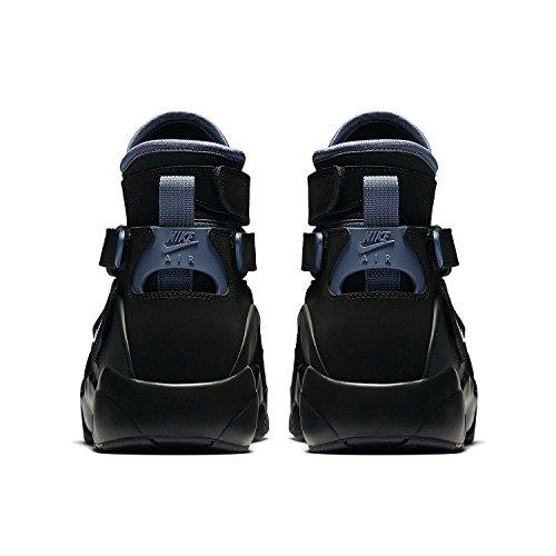 Calzado De Baloncesto Nike Hombres Air Unlimited High-top Negro / Blanco / Pizarra / Ultramar