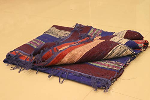 HandicraftofpinkcityChindi Rug Kilim Rug Vintage Sari Rug Hand Woven Rug hand Loom Rug Carpet