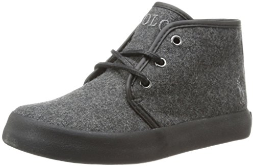 Polo Ralph Lauren Kids Ethan Mid Wool Sneaker ,Grey,4 M US B